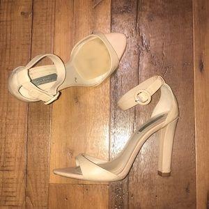 """Nude Zara heels about 4"""" heel"""